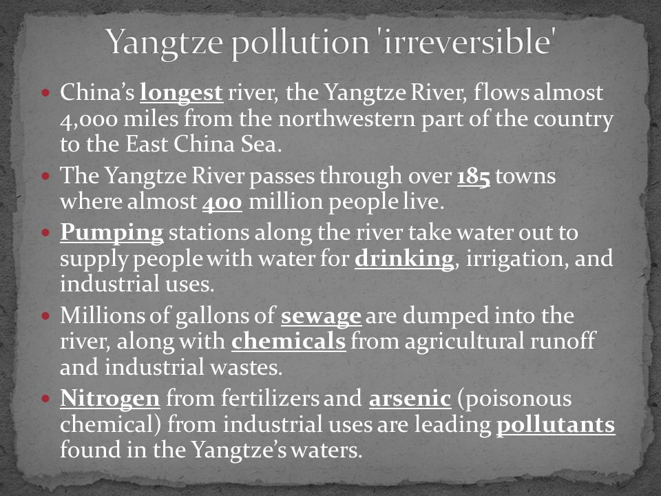 China's longest river, the Yangtze River, flows almost 4,000 miles from the northwestern part of the country to the East China Sea.