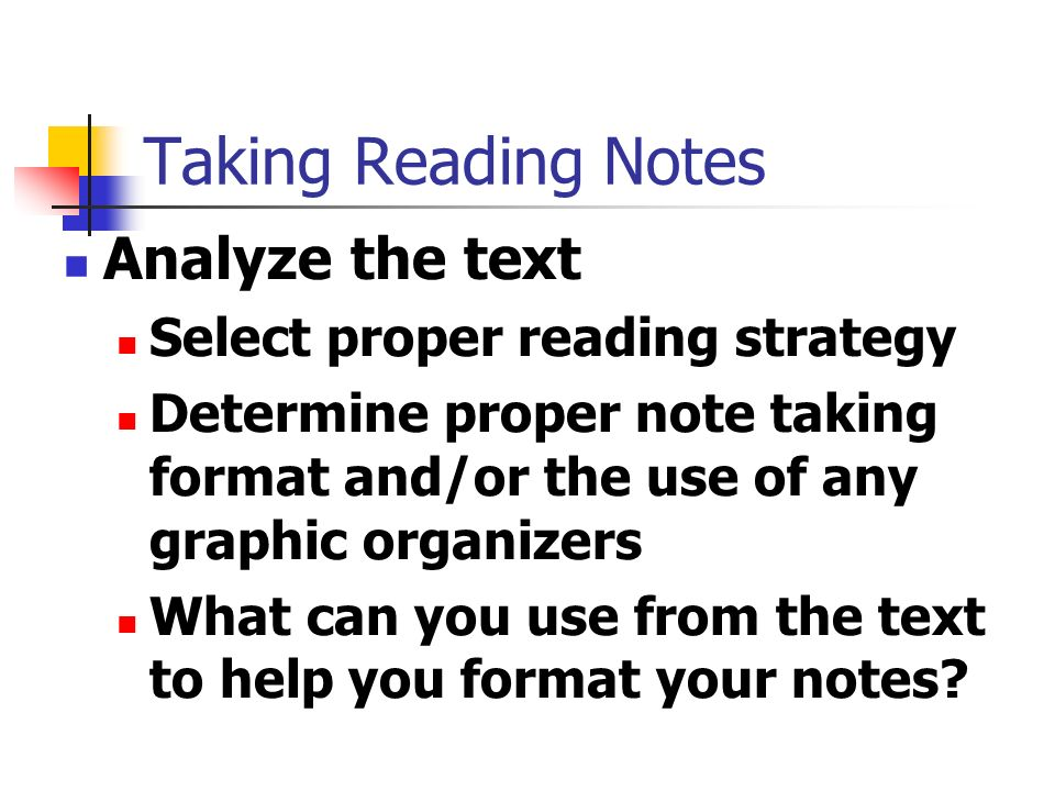 Taking Reading Notes How to Record and Remember Textbook Information ...