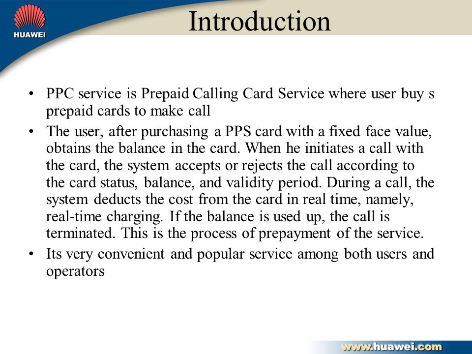introduction ppc service is prepaid calling card service where user buy s prepaid cards to make - Where To Buy Calling Cards
