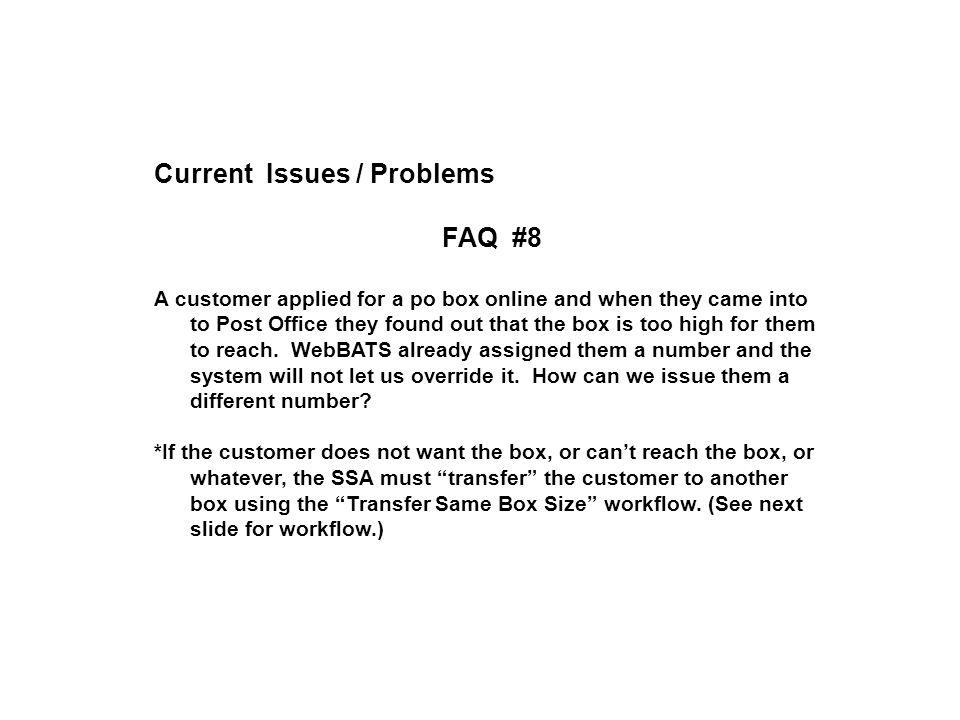 WEBBATS + POS INTEGRATION = Frustration!. RESOURCES WebBATS Version on k letter box, post box, thought box, bb box, ac box,