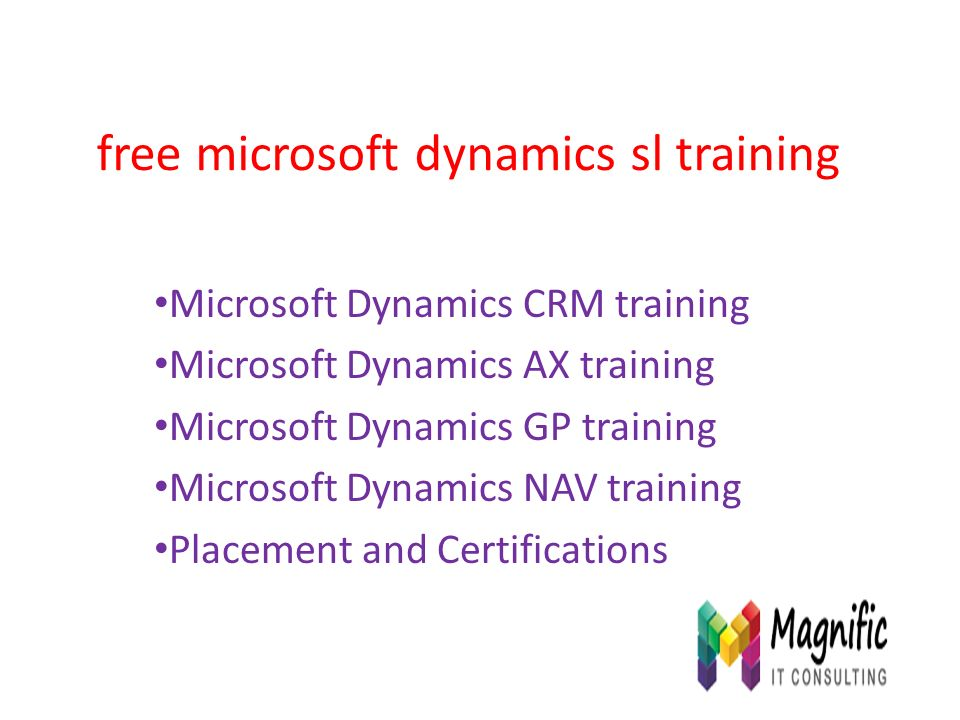 Free Microsoft Dynamics Sl Training Microsoft Dynamics Crm Training