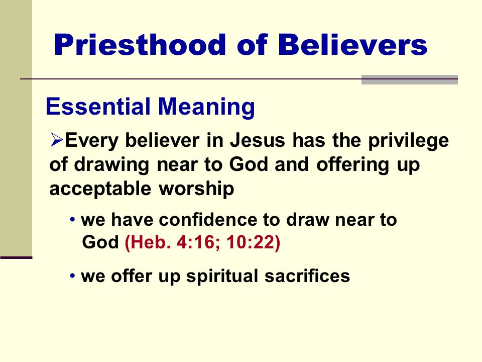 what is meant by the priesthood of all believers