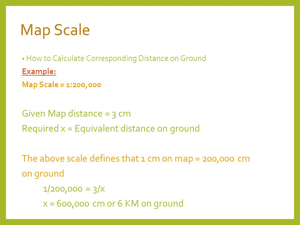 MAP SCALE Sizing the Model. Map Scale Ratio of a single unit ...