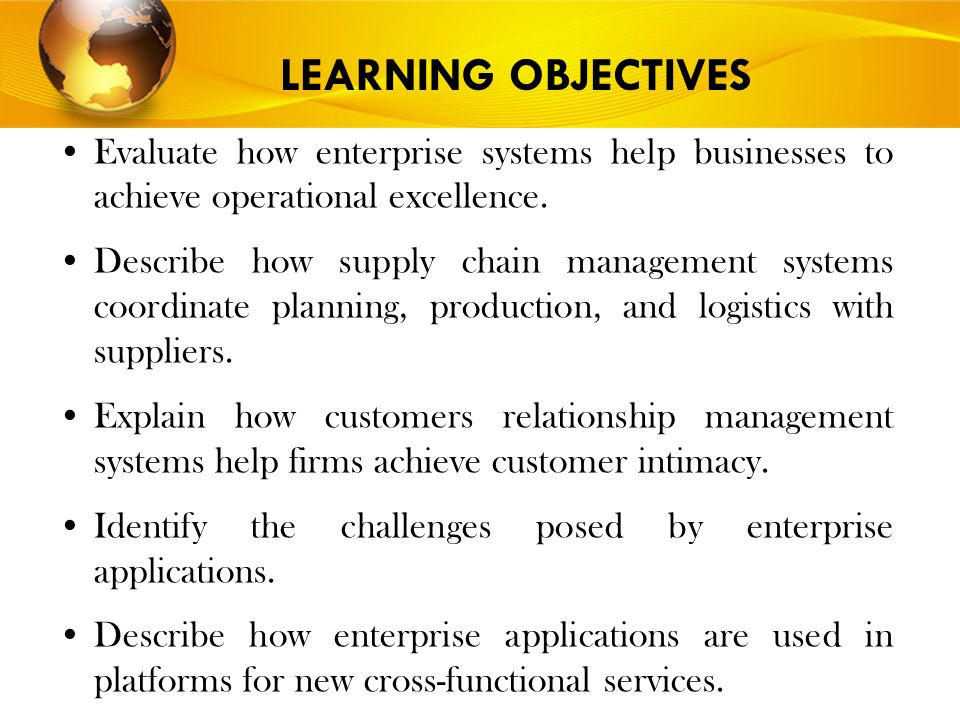 what are enterprise systems