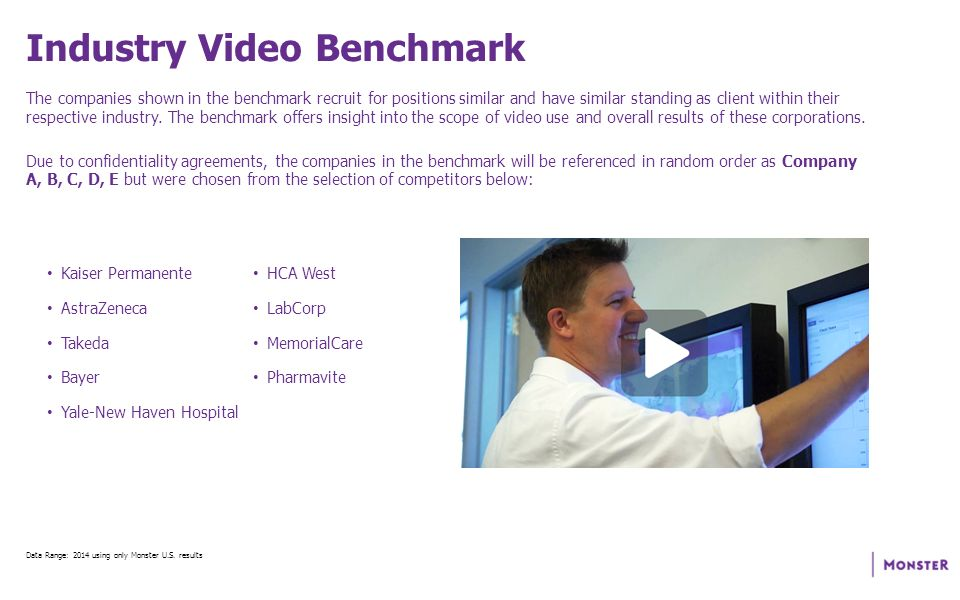 Employment Video Benchmark Analysis Prepared for Company X