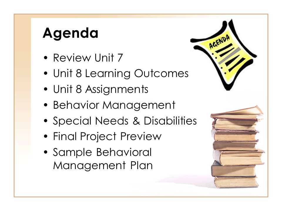 7 Unit 8 Learning Outcomes Assignments Behavior Management Special Needs Disabilities Final Project Preview Sample Behavioral Plan