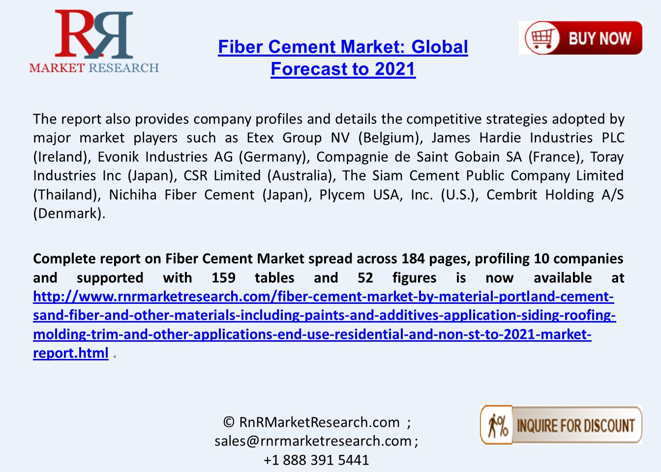 Fiber Cement Market Drive due to Growth in Construction