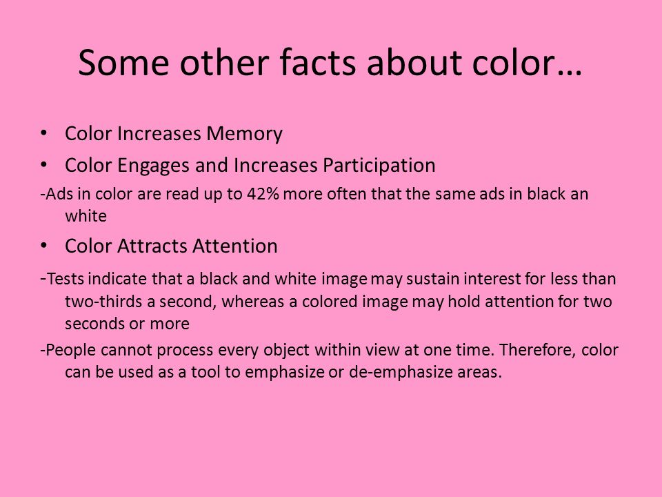 Some Other Facts About Color Increases Memory Engages And Parion Ads