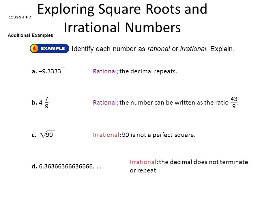 1 2 Irrational Numbers And Square Roots Geogebra Finding Square