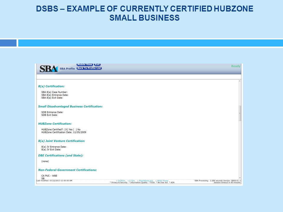 Contracting With Hubzone Certified Small Businesses Ppt Download