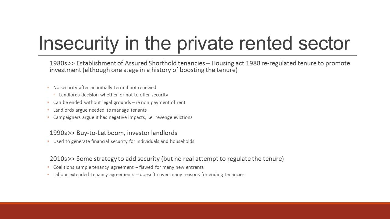 The Impact Of Precarity On The Subjective Security Of Private