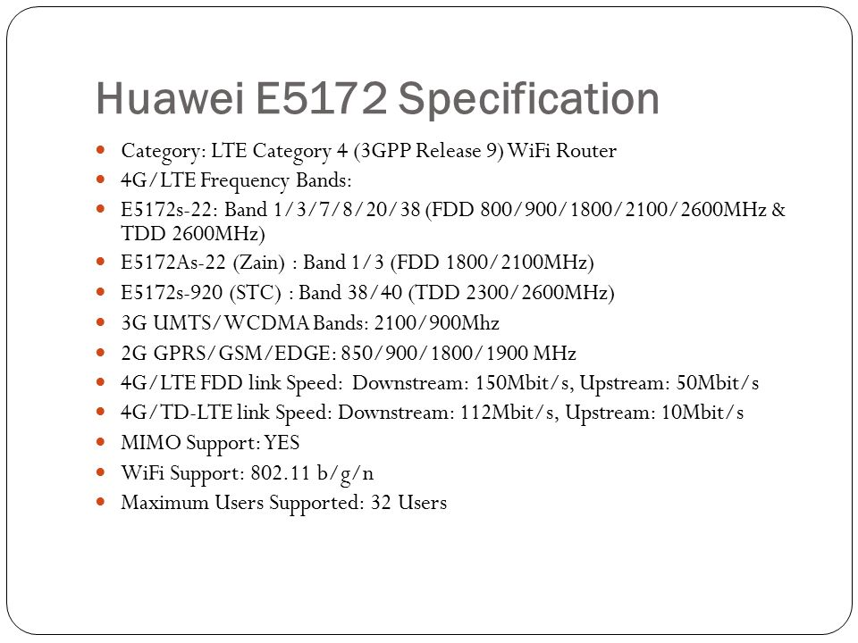 Huawei E5172 CAT4 Router Review  - ppt download