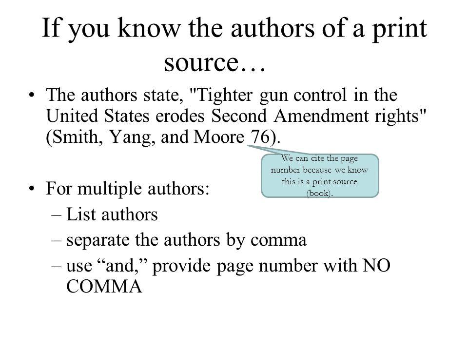 how to cite the second amendment mla