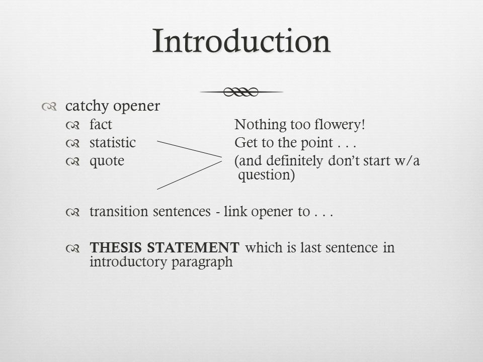 catchy introduction sentences