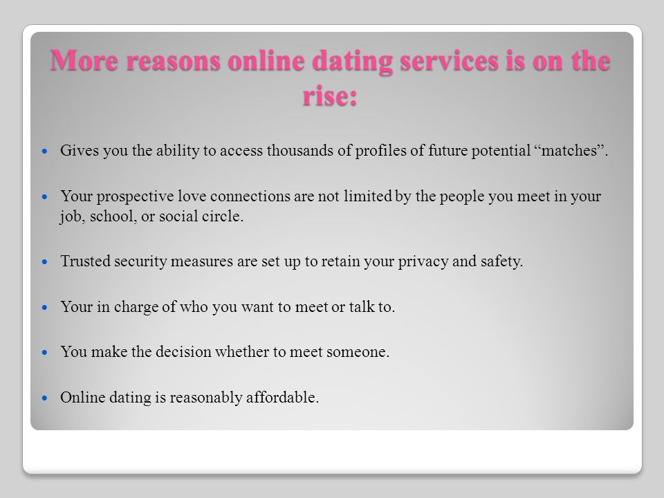 Affordable dating services