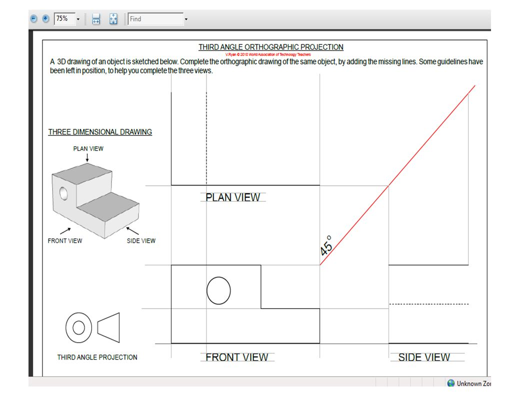 Third angle orthographic projection - ppt video online download