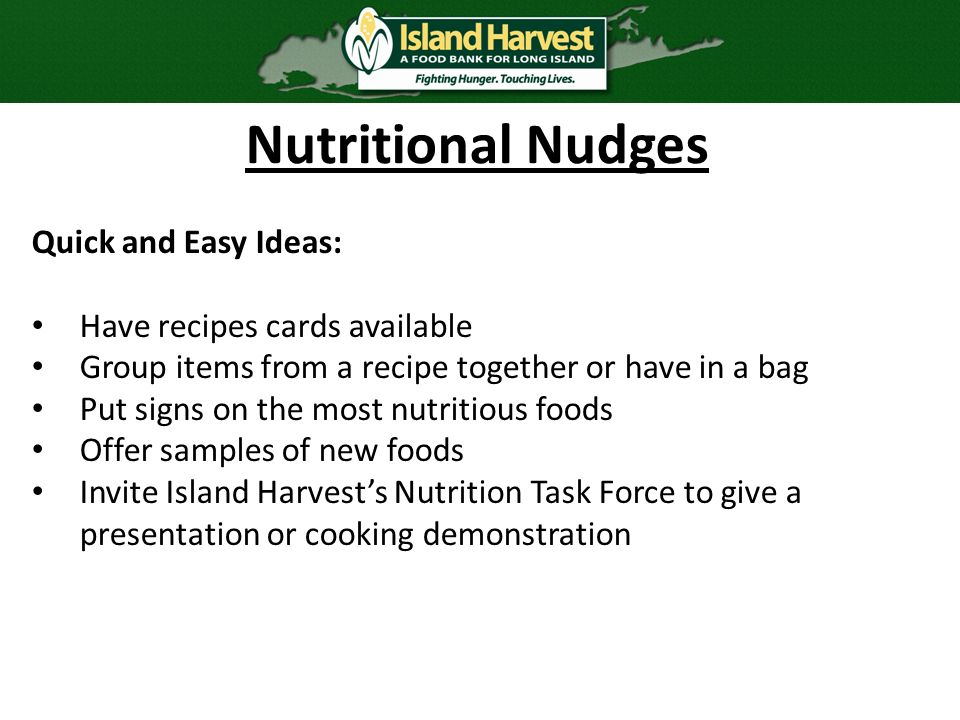 Client choice food pantries serving our community with dignity and 14 nutritional nudges quick and easy ideas have recipes forumfinder Gallery
