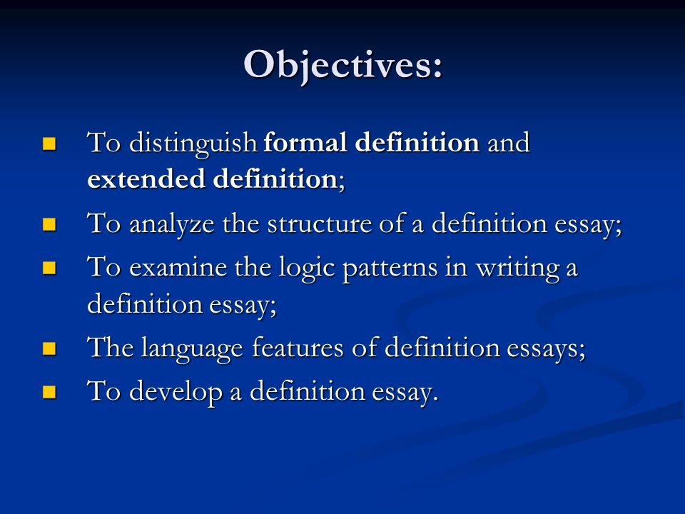 Unit 6 What Does It Mean Objectives To Distinguish Formal