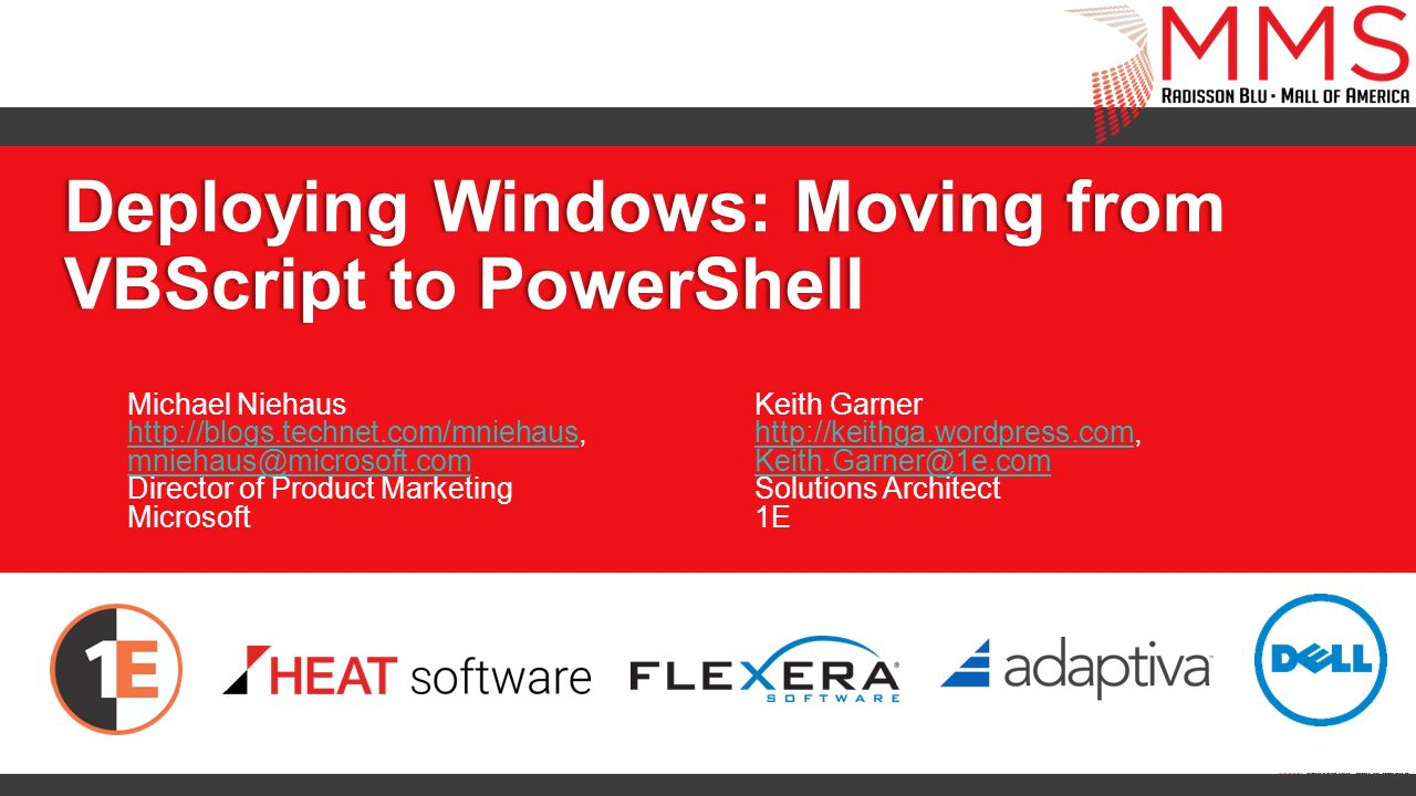 Deploying Windows: Moving from VBScript to PowerShell