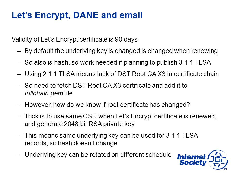 Let's Encrypt and DANE ENOG 11 | Moscow | 8 Jun ppt download