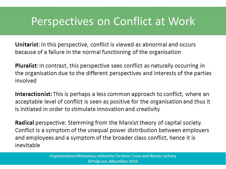 unitarist conflict