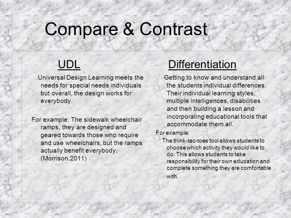 Udl Differentiation Melody Mccraney Edu 673 Laura Wilde May 29 Ppt Download