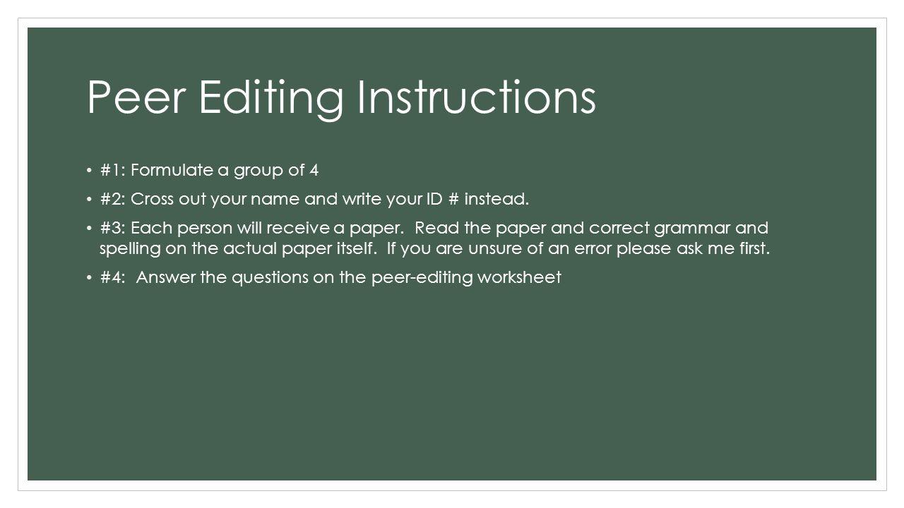 peer edit research paper
