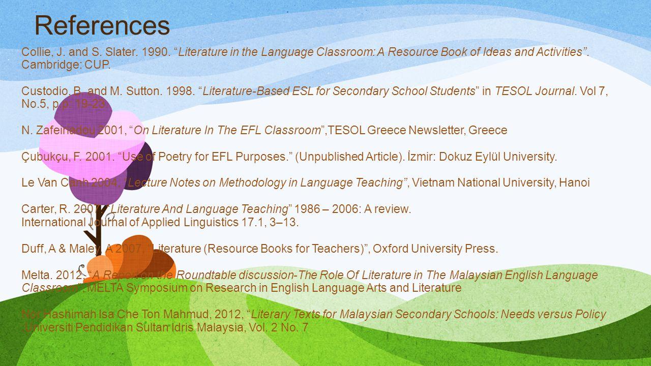 ACADEMIC WRITING 1 Using Literary Texts to Teach Language
