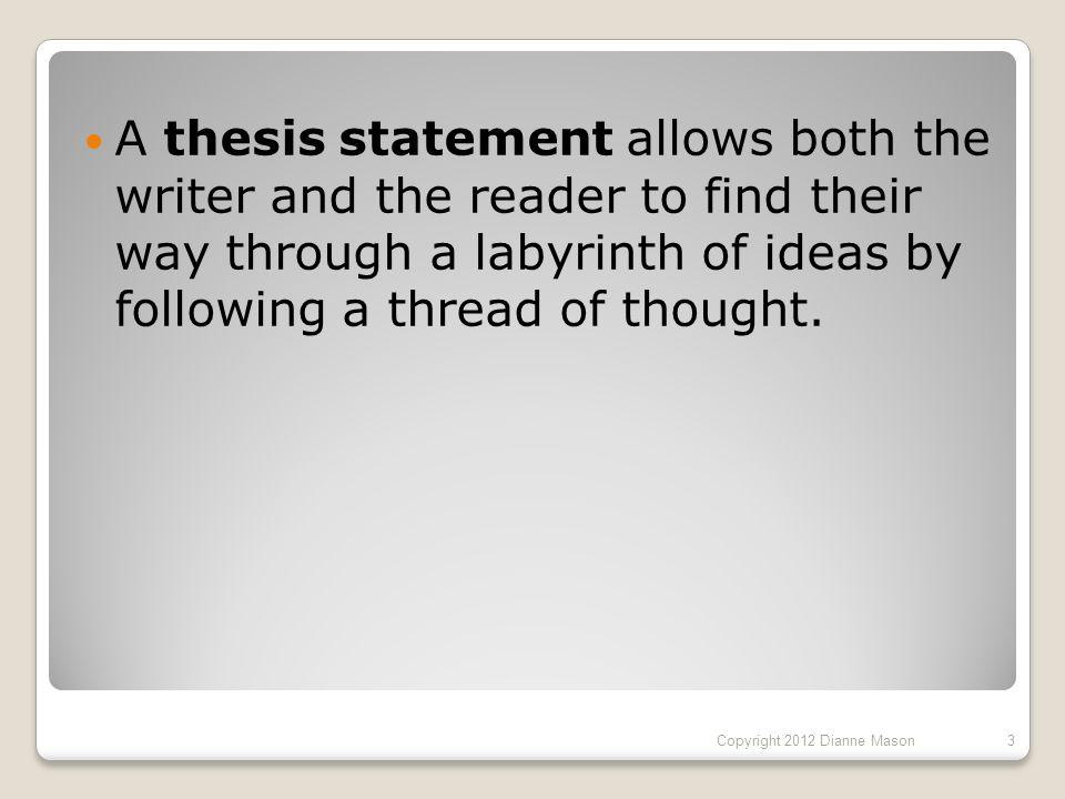 ways to start a thesis statement