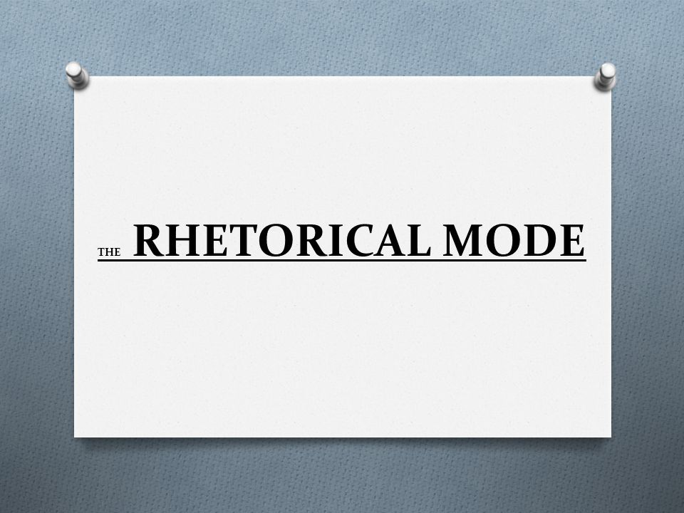 rhetorical modes examples