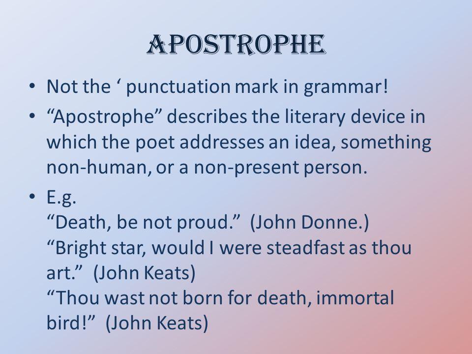 apostrophe poetic device