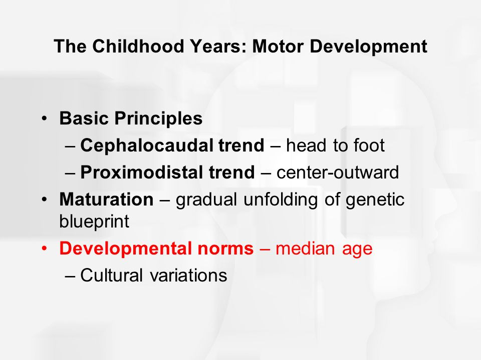Human development across the life span progress before birth to foot proximodistal trend center outward maturation gradual unfolding of genetic blueprint developmental norms median age cultural variations malvernweather Choice Image