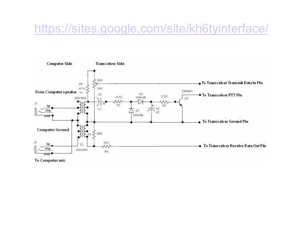 Audio Interfacing For Aprs And Digital Sstv Modes Ppt Video Basic Vox Circuit Controls Ptt 10 Https Sitesgooglecom Site Kh6tyinterface