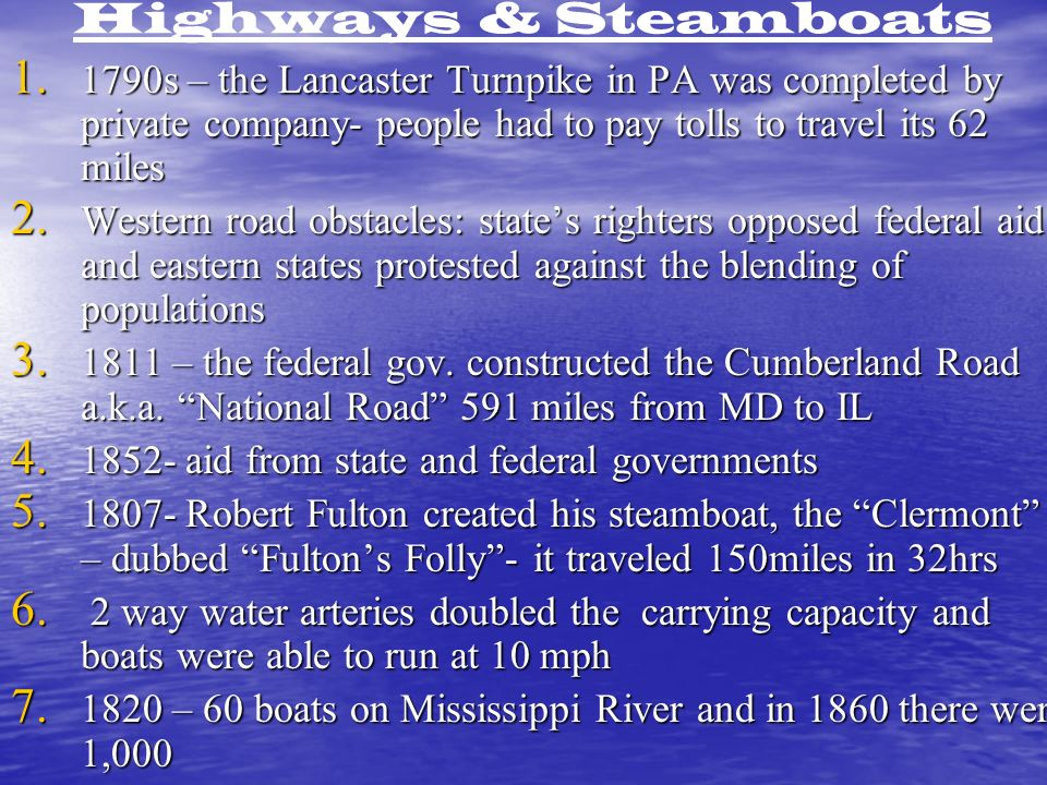 Highways & Steamboats 1.