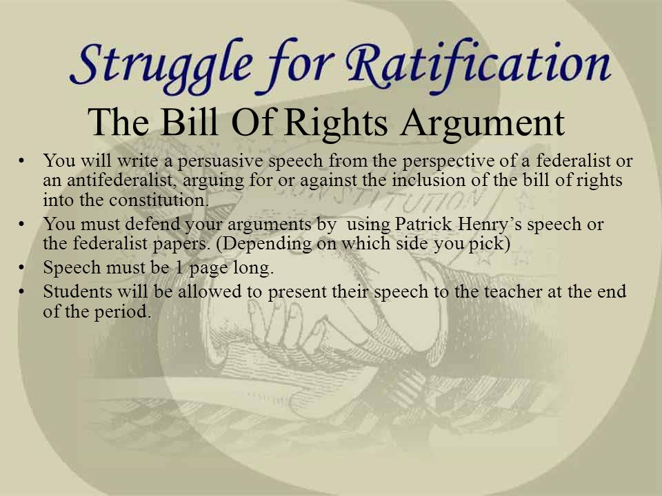 federalist papers bill of rights