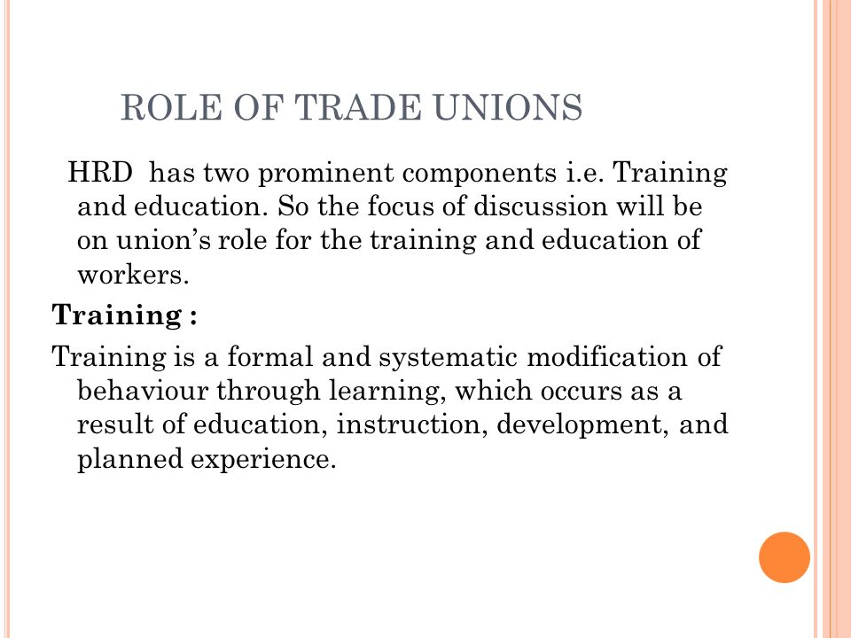 role of trade unions in occupational health and safety