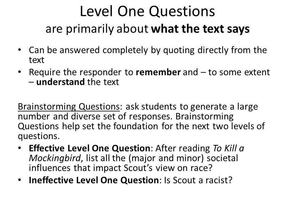 tkam socratic seminar questions