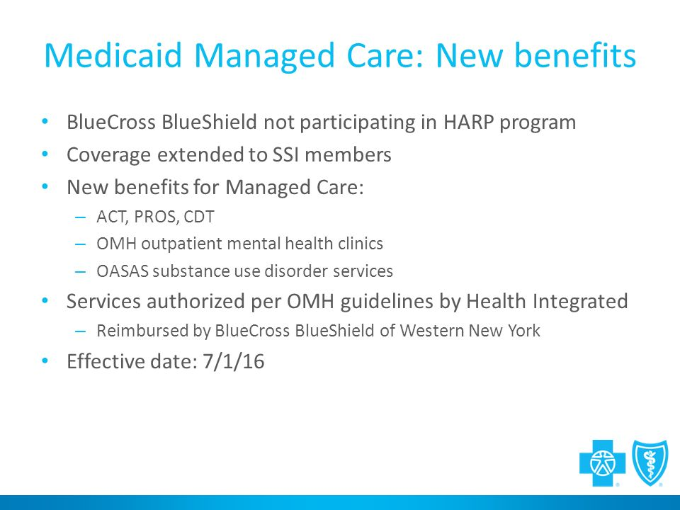 Transition To Managed Medicaid Bluecross Blueshield Of Western New