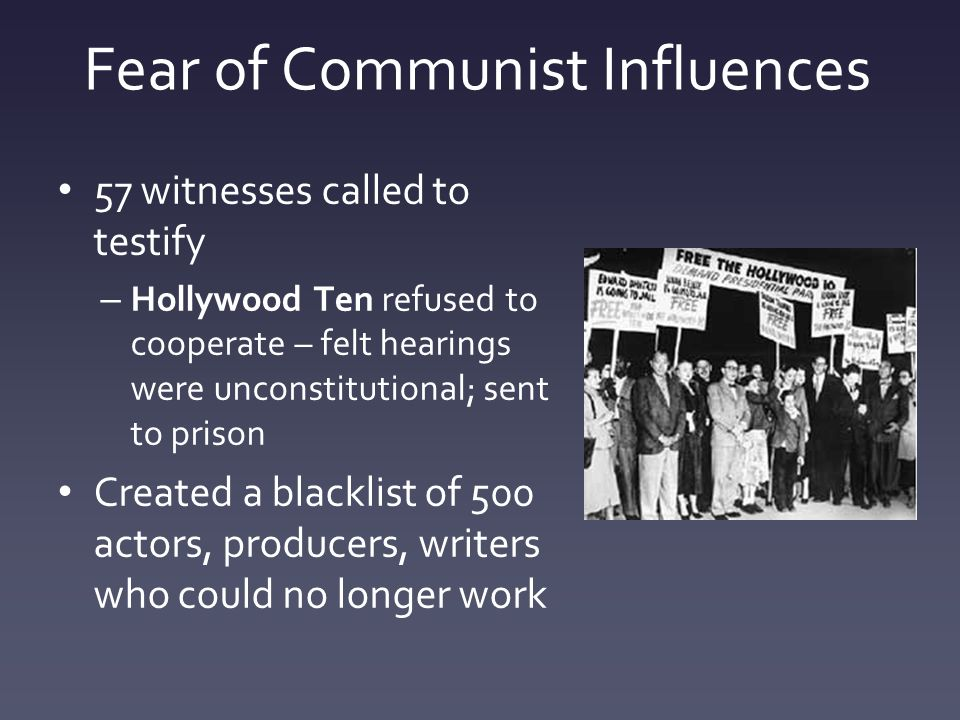 the influence of communism during the first world war The red scare and mccarthyism another factor that caused communism fears in the us was the fear of the spread of communism itself following the bolshevik revolution in russia as well as a series of anarchist bombings on us soil after world war i, the red scare began in the us in 1919.