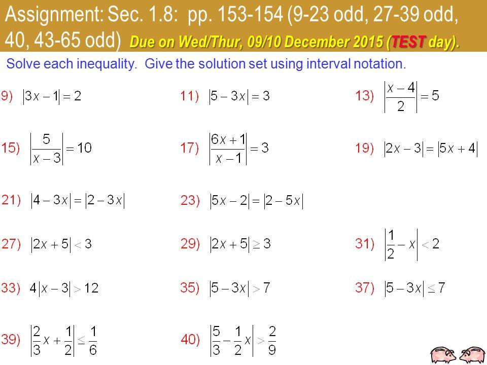 1 College Algebra K/DC Friday, 04 December 2015 OBJECTIVE