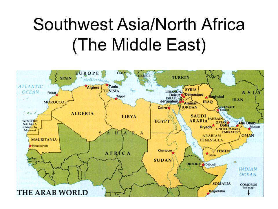 Southwest Asia/North Africa (The Middle East). Egypt. - ppt download