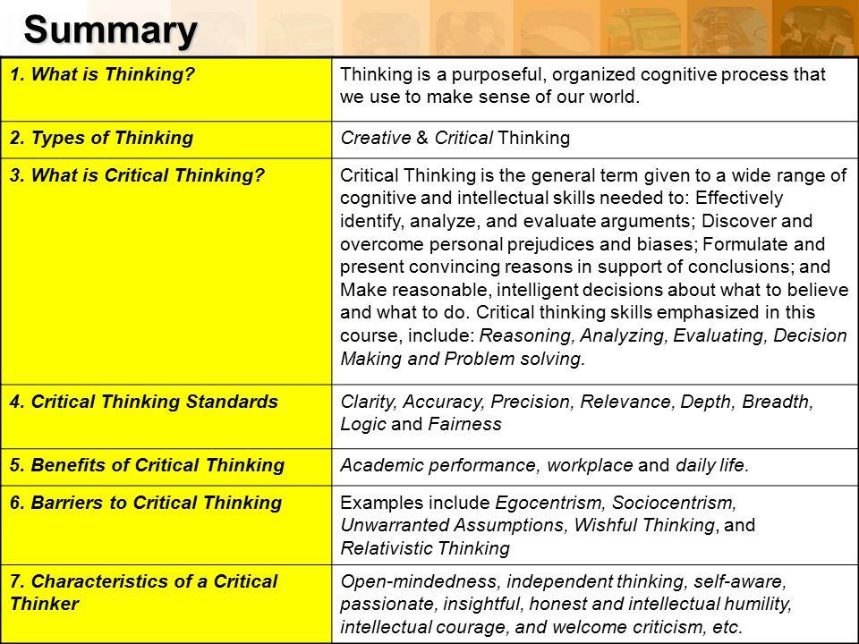 critical thinking process