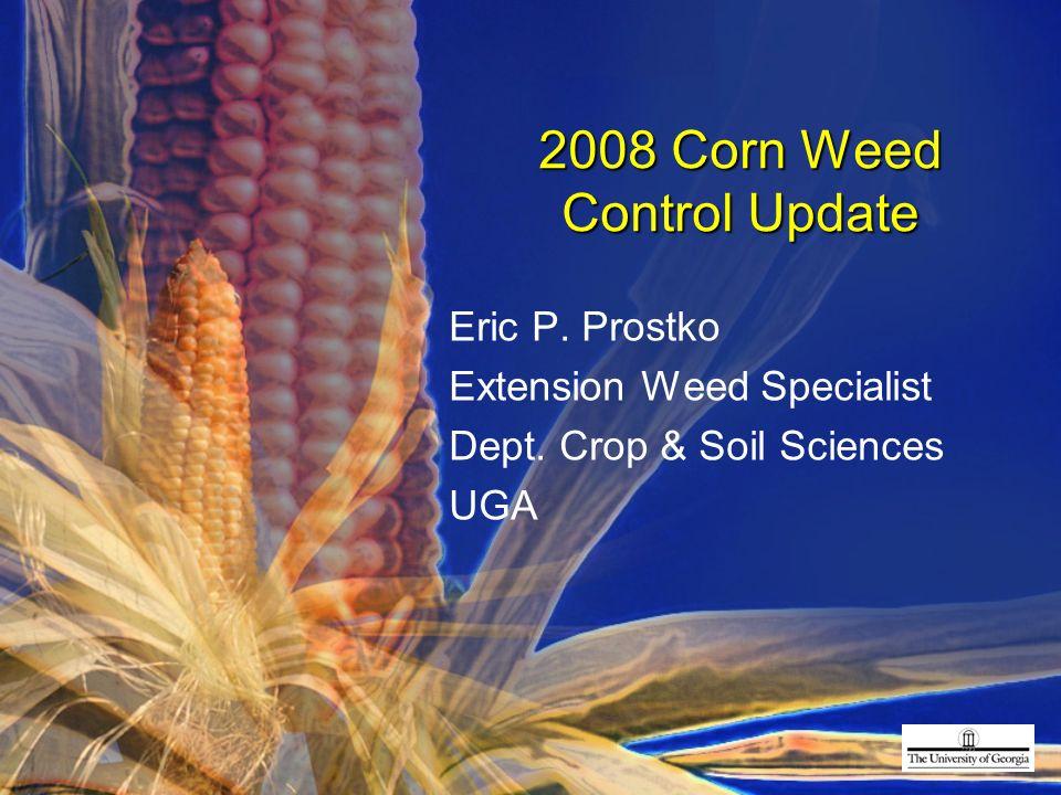 1 2008 Corn Weed Control Update