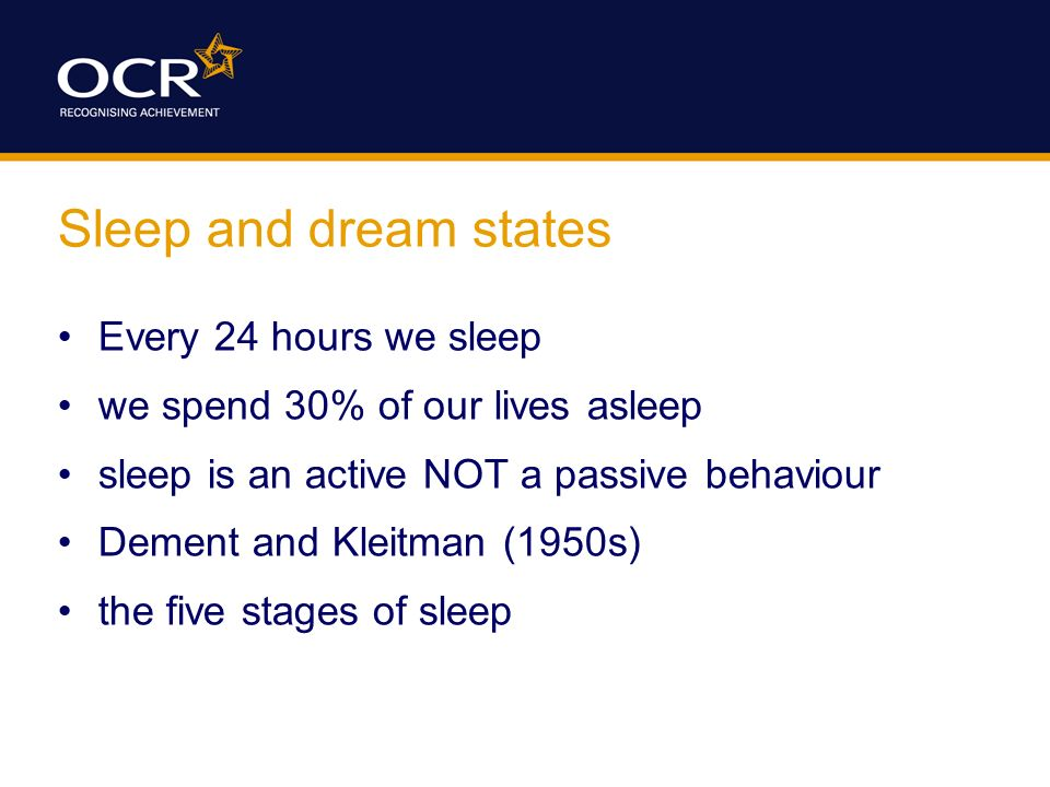 five stages of sleep psychology