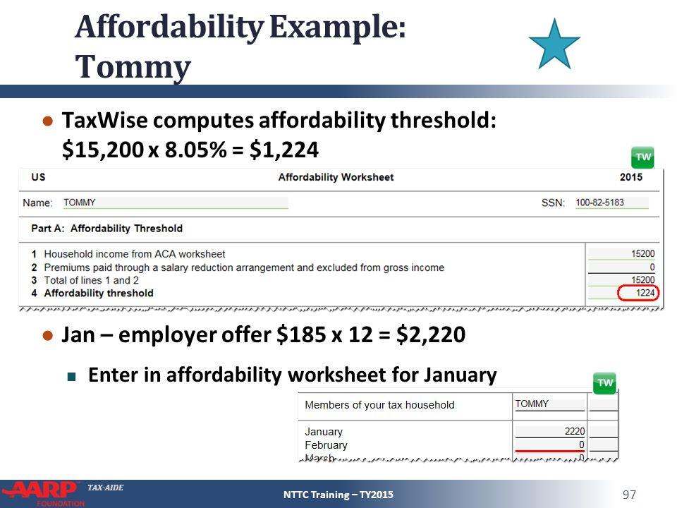 TAX-AIDE Affordable Care Act Pub 4012 – ACA Tab Pub 4491 – Part 1 ...