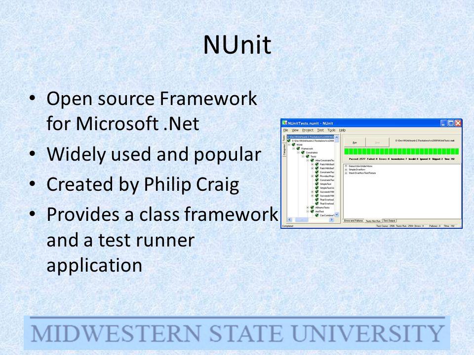 Unit testing with NUnit Anne Lam & Chris James CMPS 4113