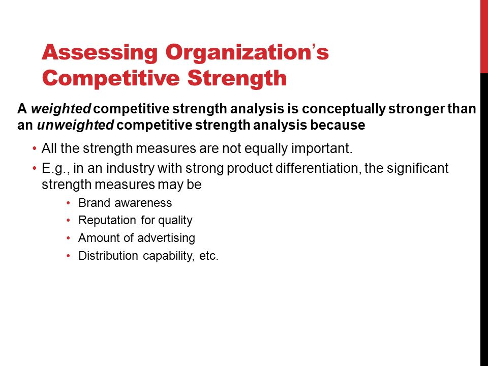 Assessing Organization S Competitive Strength 1