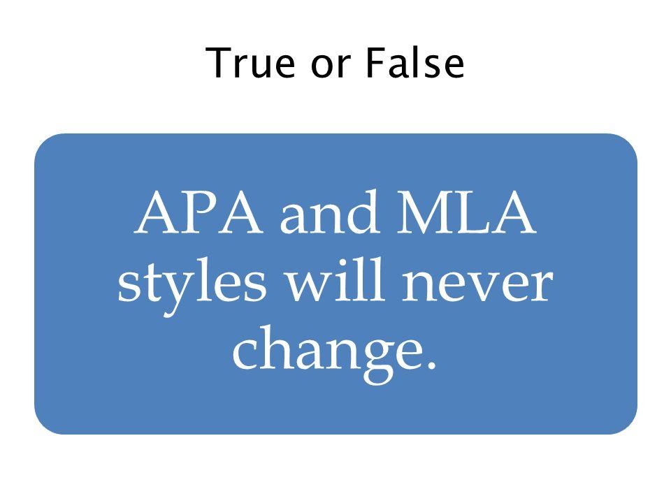 change apa to mla