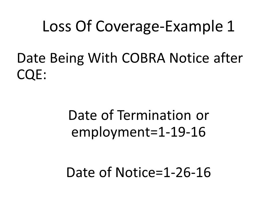 Department of Human Resources Benefits Division COBRA