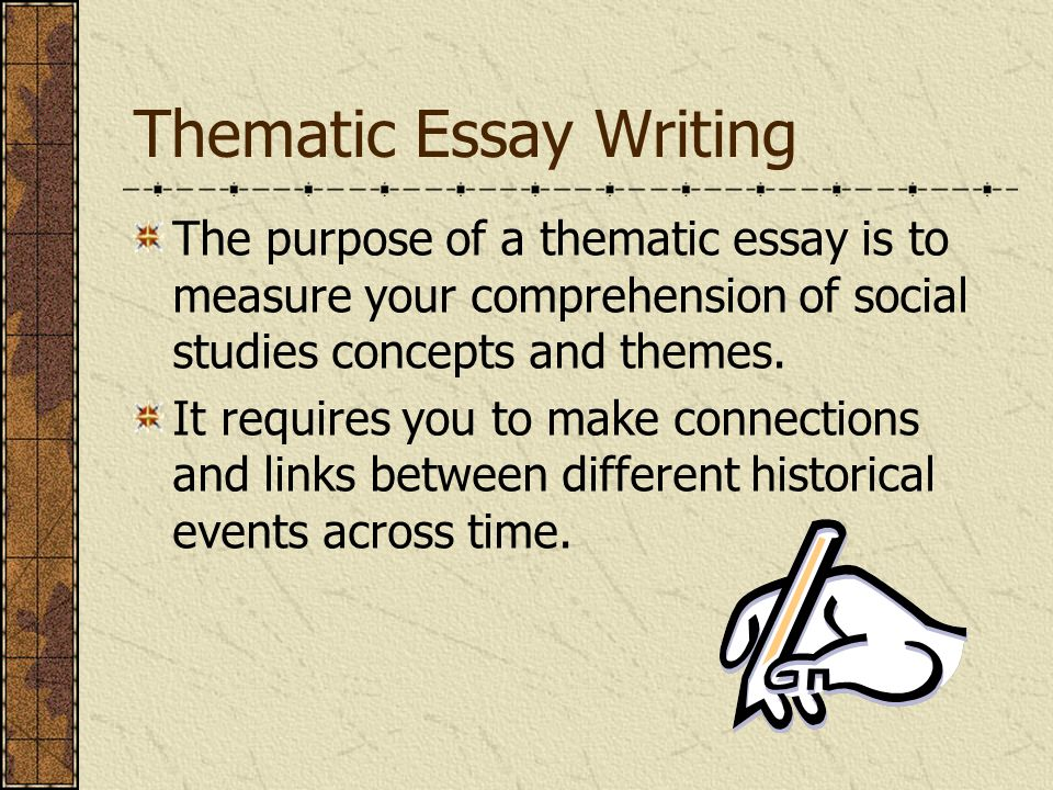 us history thematic essay questions For part ii(thematic) essay: † a content-specific rubric  schools are not permitted to rescore any of the open-ended questions (scaffold questions, thematic essay, dbq essay) on this exam after each question has been rated the required  your study of united states history some suggestions you might wish to consider include james k.